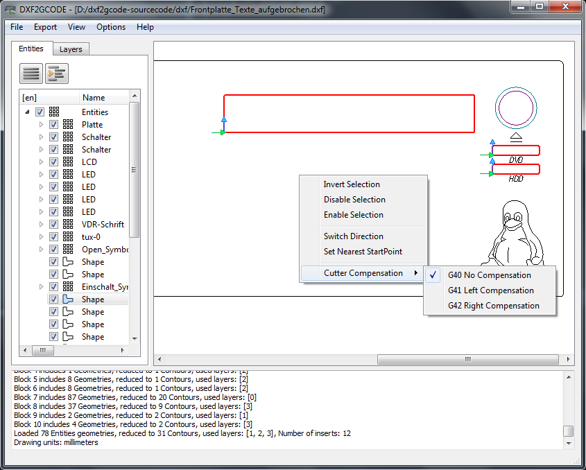 Free DXF to G-code converter - FREE DXF FILES  FREE CAD
