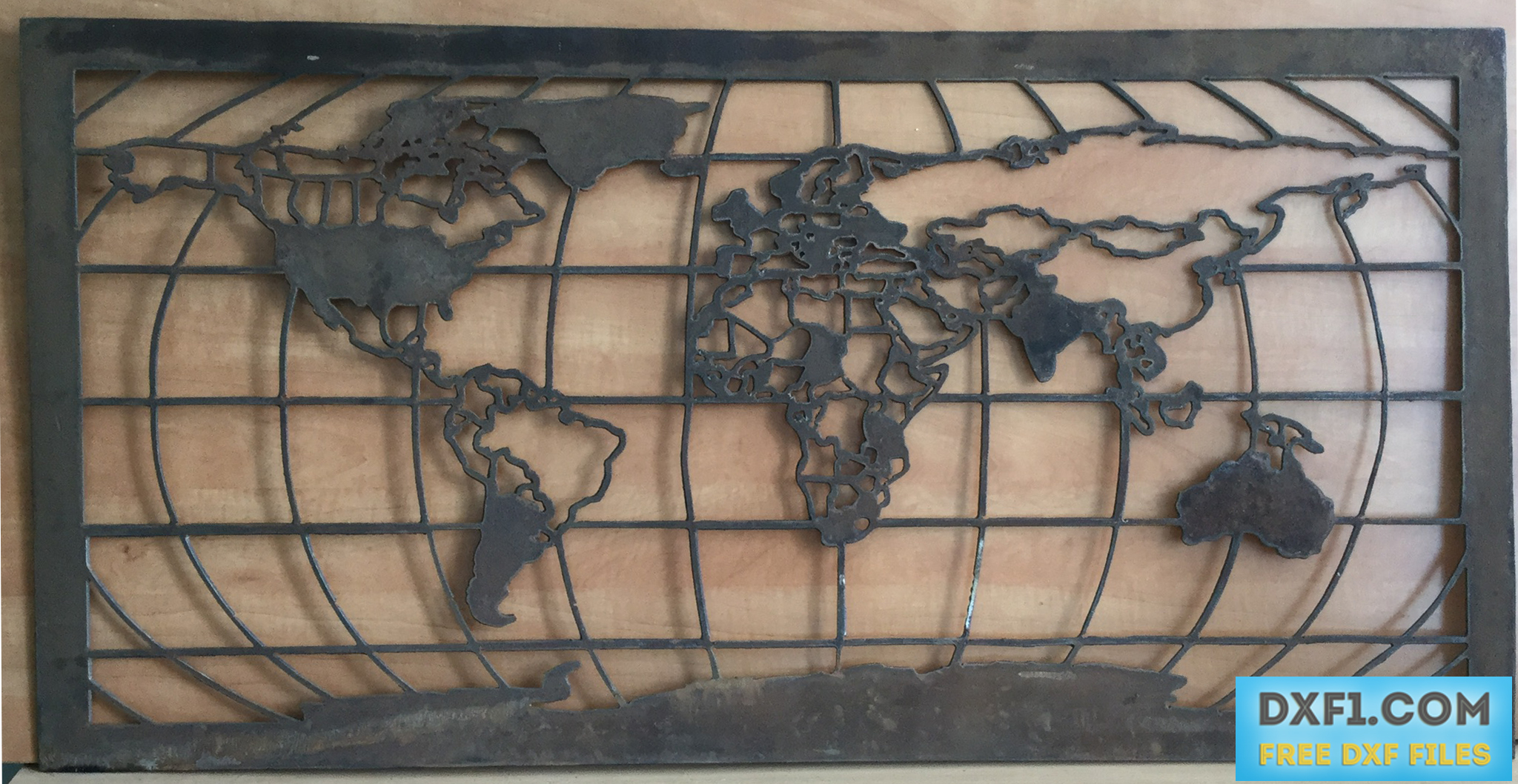 World map dxf plasma cut file free dxf files free cad software for air plasma cutting i recommend using a sheet of at least 1000x500mm 4020 the download contains dxf eps and png files gumiabroncs Choice Image