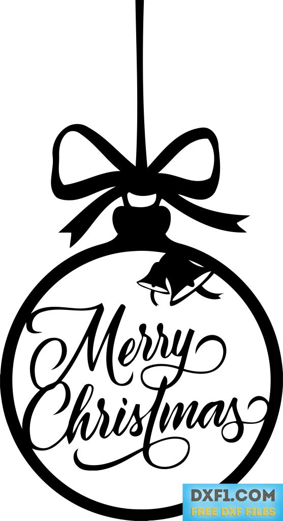 Merry Christmas Vector Dxf Cut File Free Dxf Files Free Cad Software Dxf1 Com