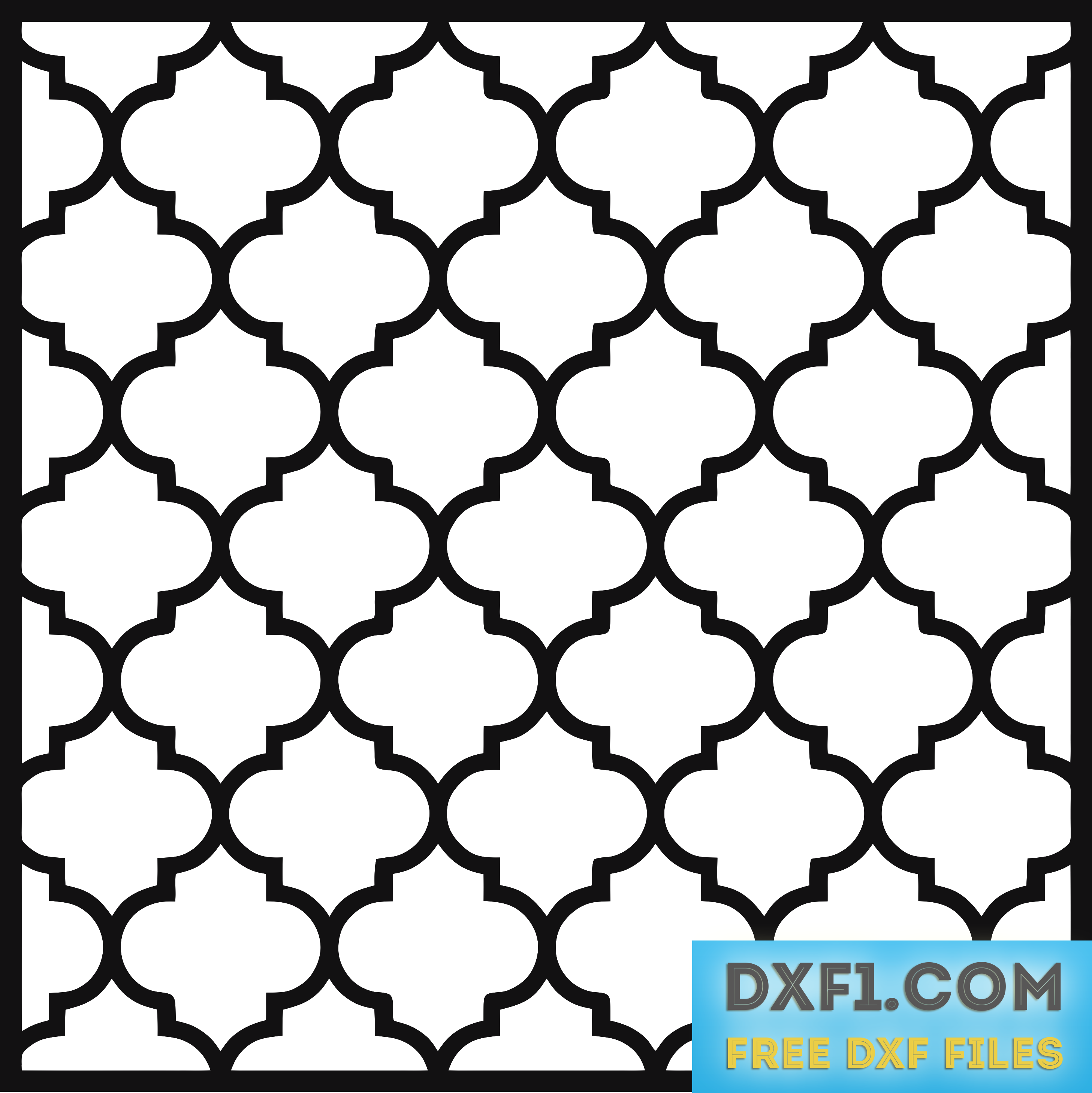 moroccan pattern cnc free dxf files free cad software
