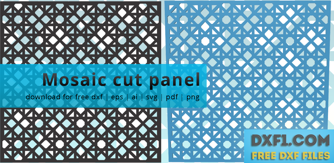 Cut panels - FREE DXF FILES  FREE CAD SOFTWARE - DXF1 com