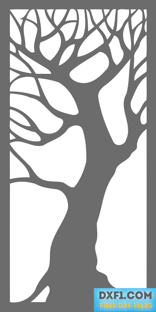 Tree Decorative Panel Free Dxf Files Free Cad
