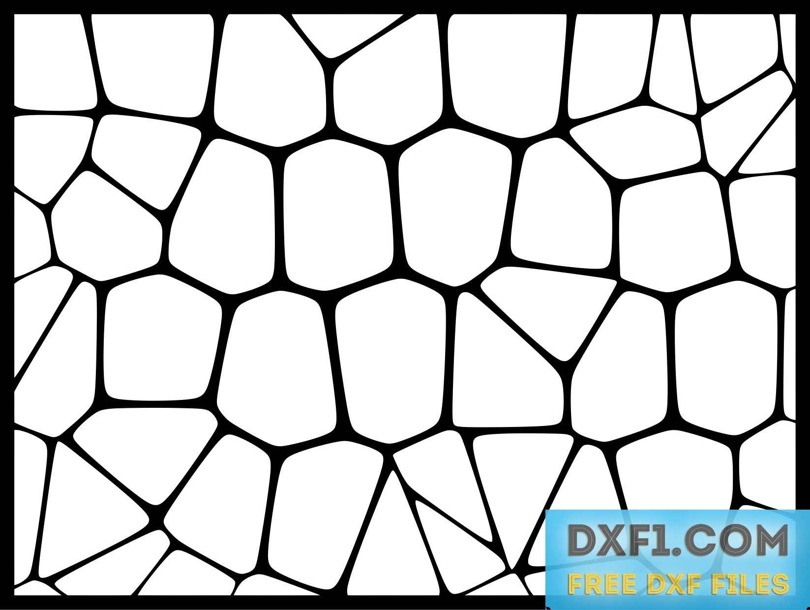 Voronoi patterns - FREE DXF FILES  FREE CAD SOFTWARE - DXF1 com