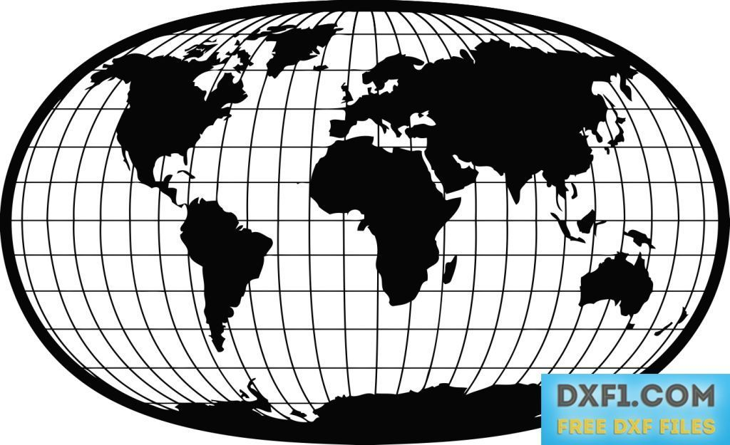 World map with parallel and meridians vector dxf free free dxf world map with parallel and meridians vector dxf free map of the world in an elliptical frame download contains free dxf eps ai svg pdf and png files gumiabroncs Gallery