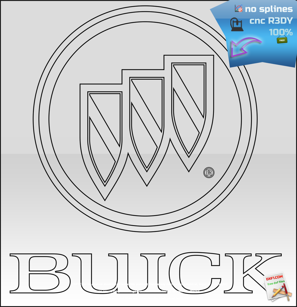 Buick logo cnc dxf - FREE DXF FILES. FREE CAD SOFTWARE ...