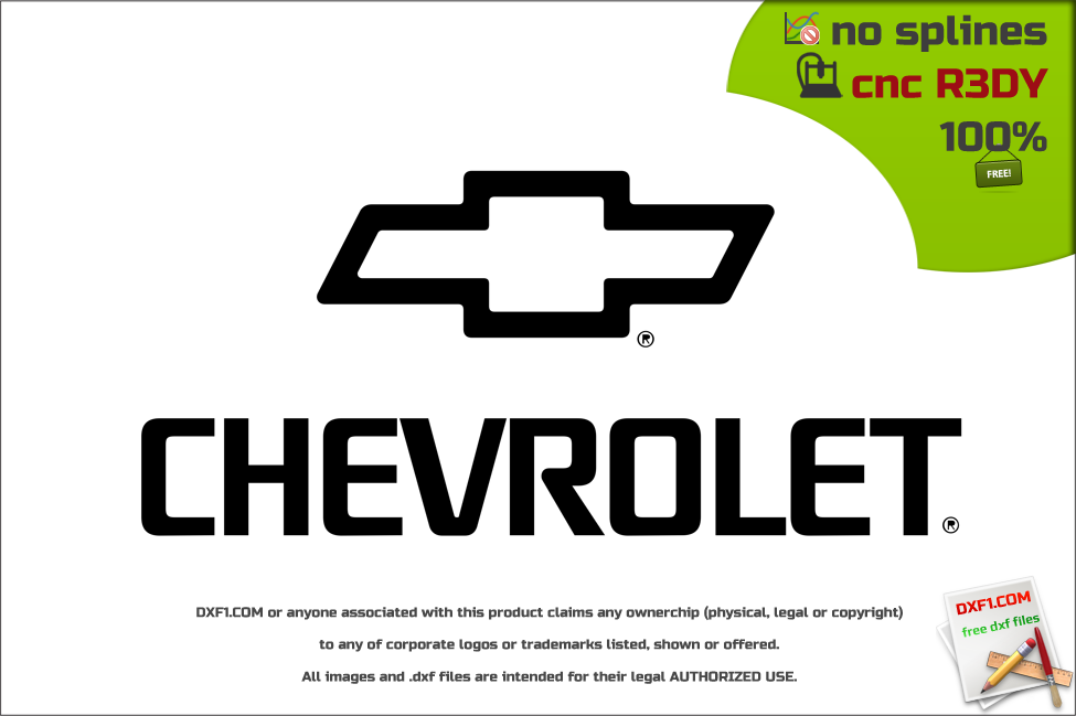 chevrolet logo. free dxf files download chevrolet logo