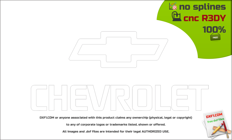 Chevrolet logo dxf - FREE DXF FILES  FREE CAD SOFTWARE