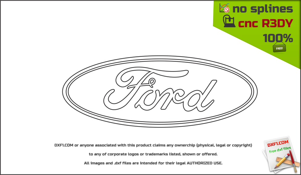 Ford logo dxf - FREE DXF FILES  FREE CAD SOFTWARE - DXF1 com