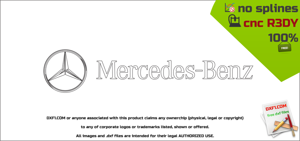 Mercedes Benz Logo Dxf Free Dxf Files Free Cad Software Dxf1 Com