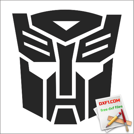 Transformers dxf logo - FREE DXF FILES  FREE CAD SOFTWARE