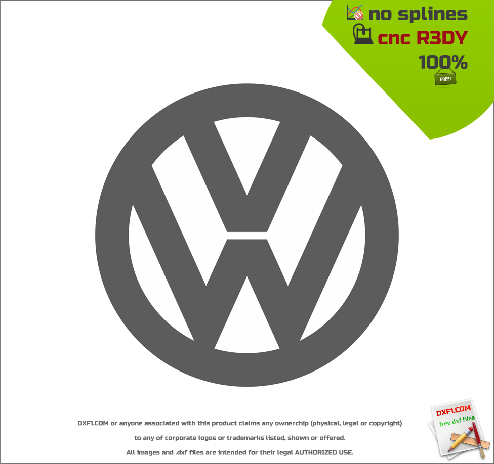 VW logo dxf - FREE DXF FILES  FREE CAD SOFTWARE - DXF1 com
